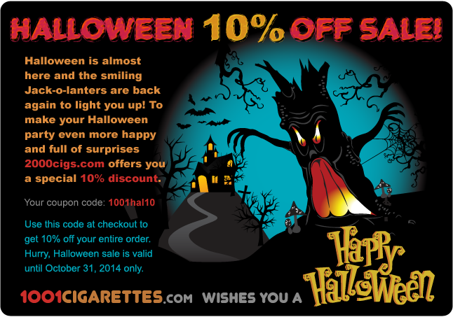 Happy Halloween with 1001cigarettes.com!
